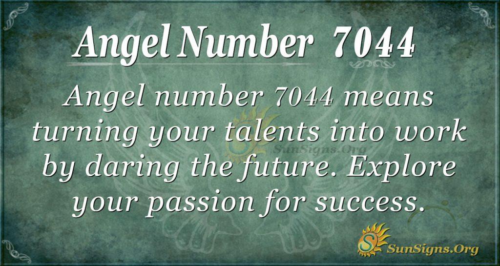 angel number 7044