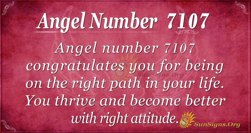 angel number 7107
