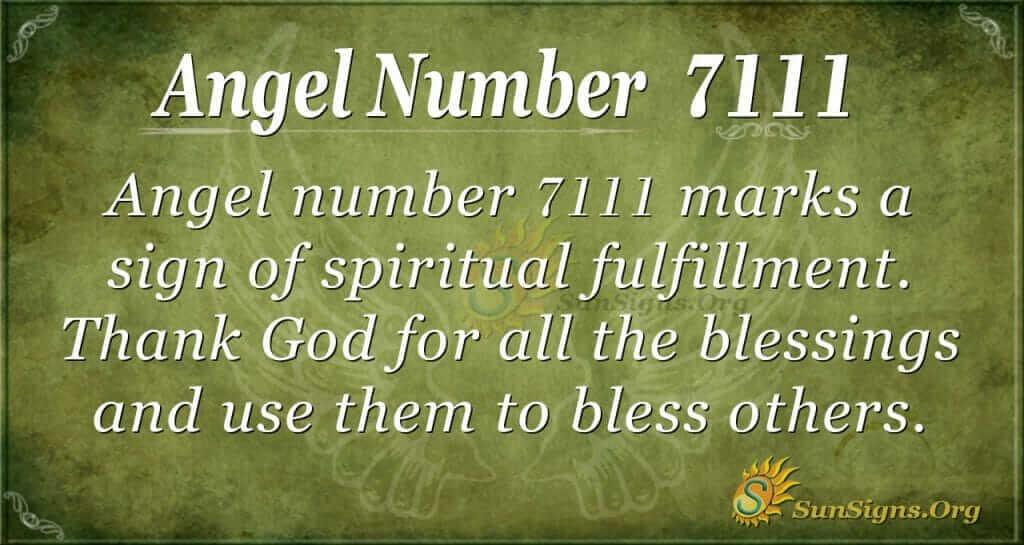 Angel Number 7111