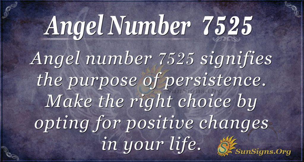 angel number 7525
