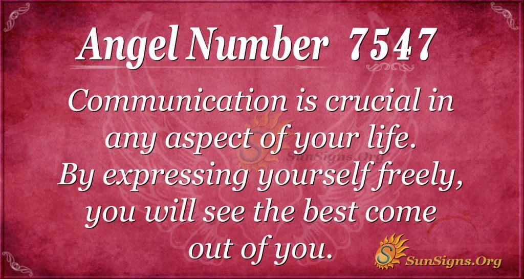 angel number 7547