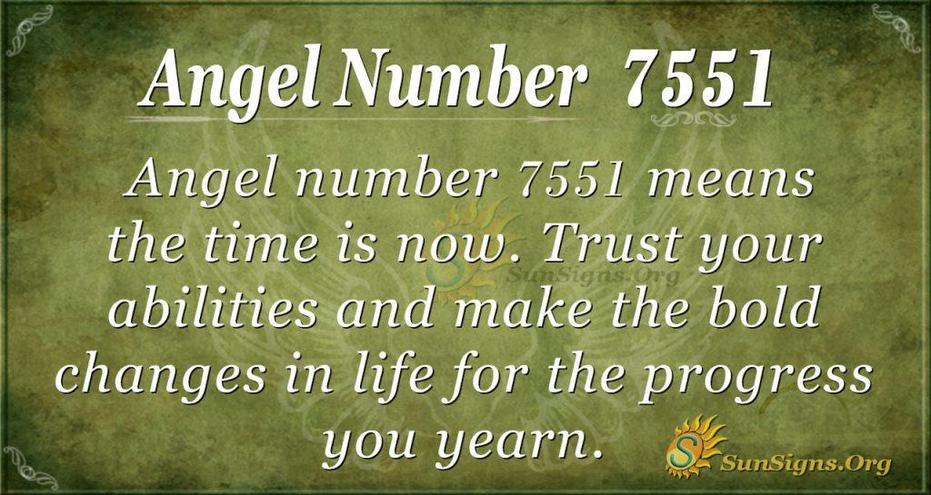 angel number 7551