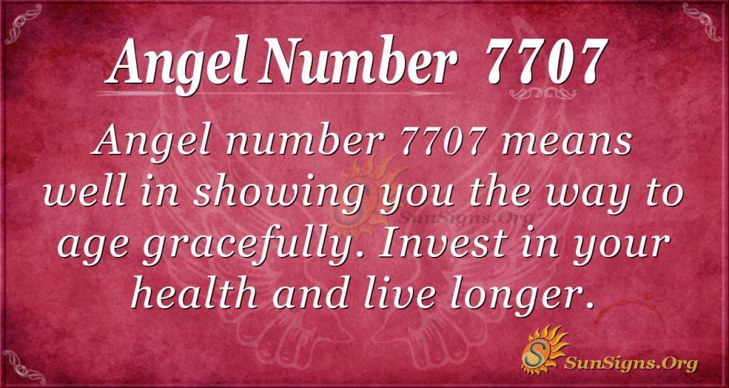 angel number 7707