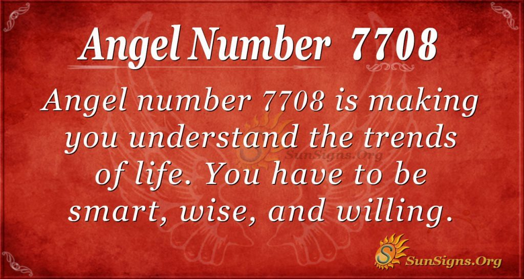 angel number 7708