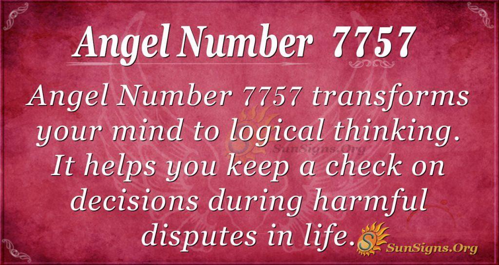 Angel Number 7757