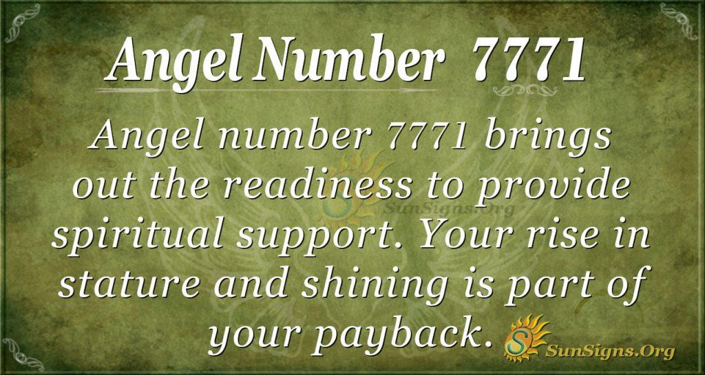 angel number 7771