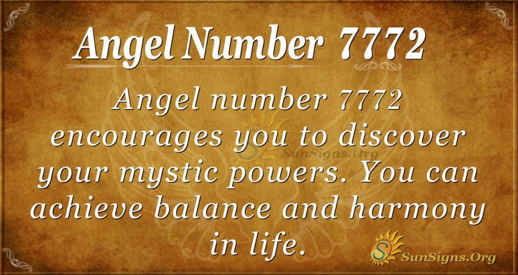 Angel Number 7772
