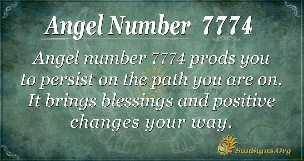 angel number 7774