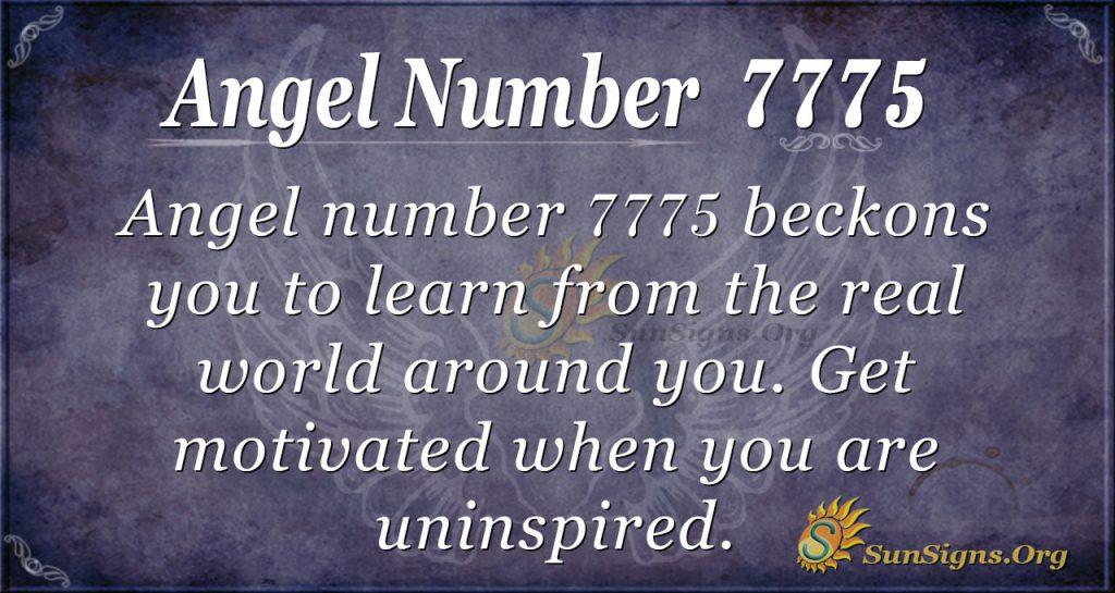 Angel Number 7775