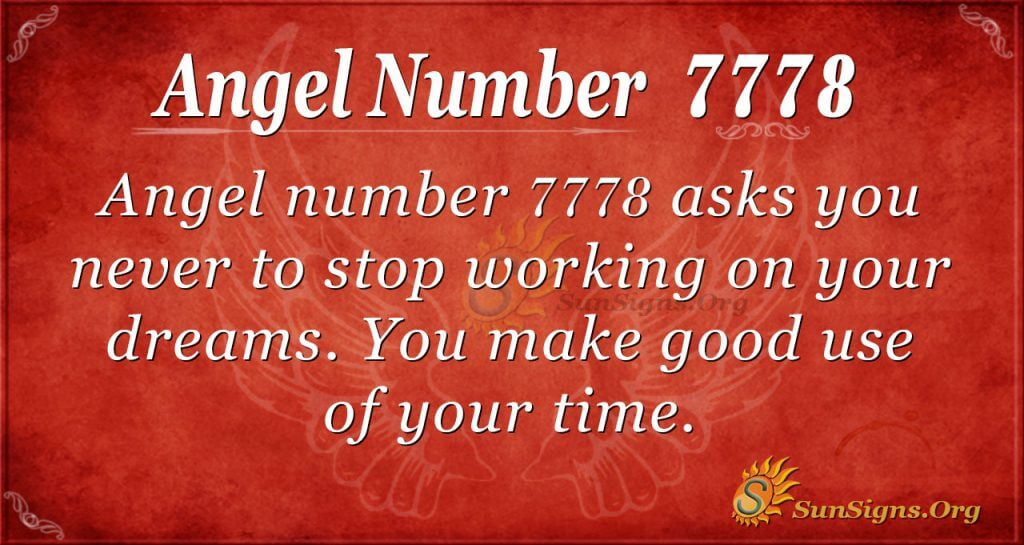angel number 7778