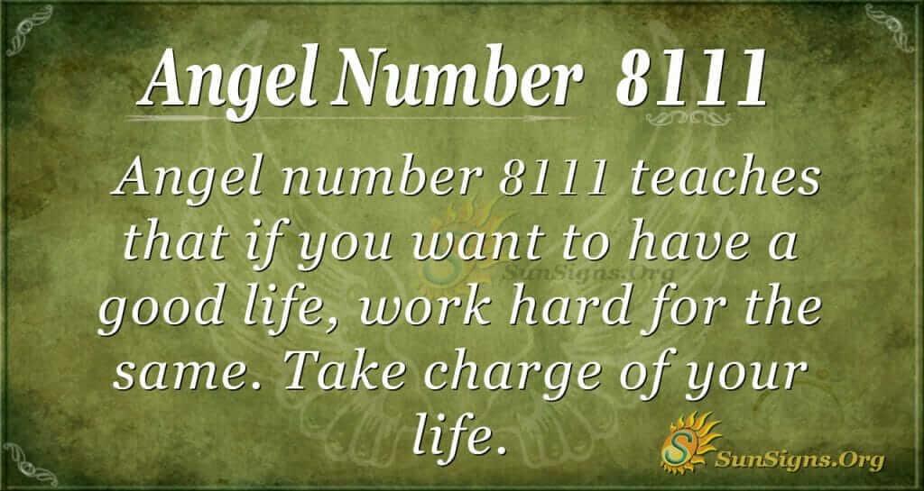 angel number 8111