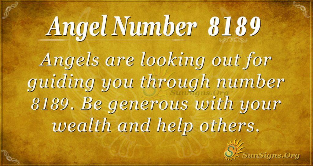 Angel Number 8189