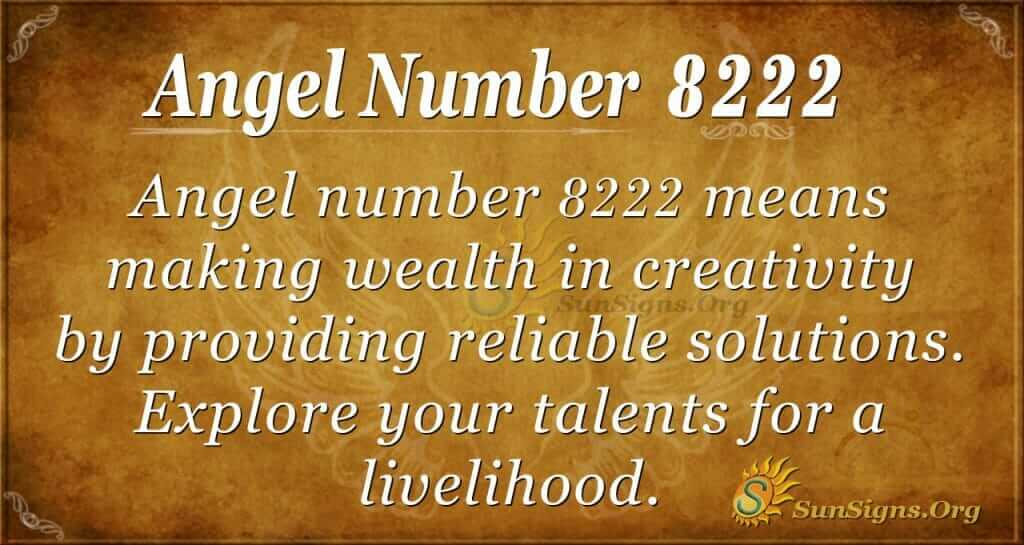 angel number 8222