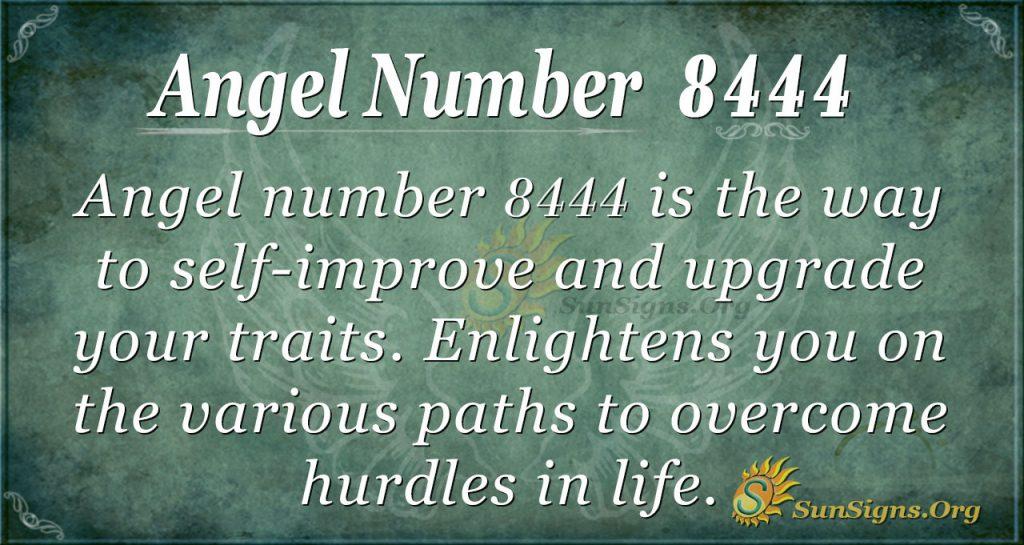 Angel Number 8444