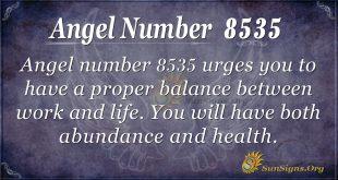angel number 8535