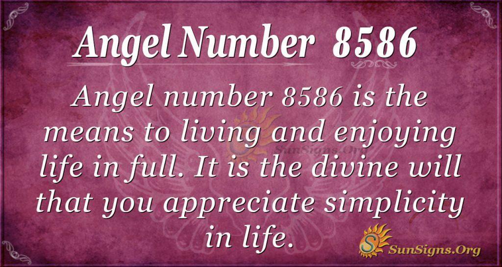 angel number 8586
