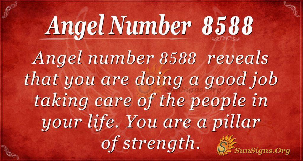 angel number 8588