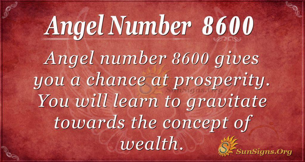 Angel Number 8600