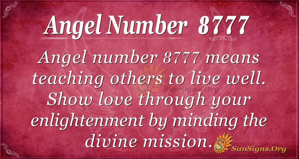 angel number 8777