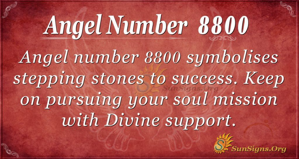 Angel Number 8800