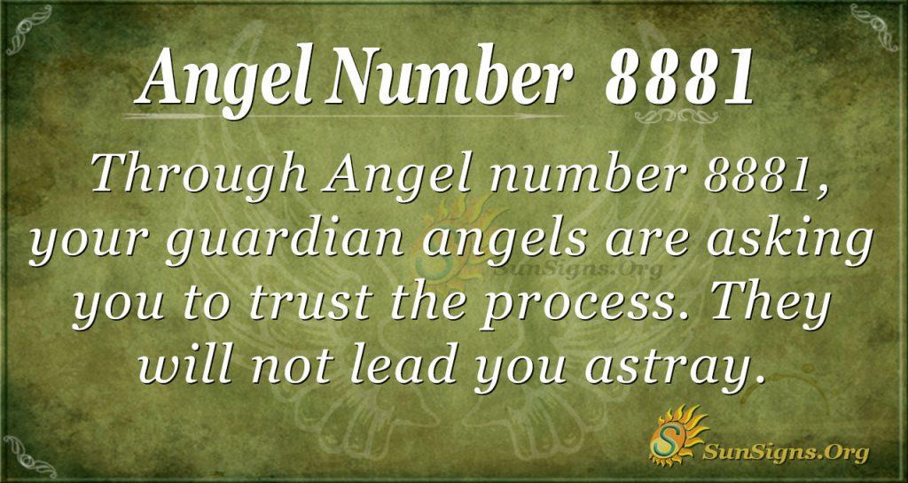 Angel Number 8881