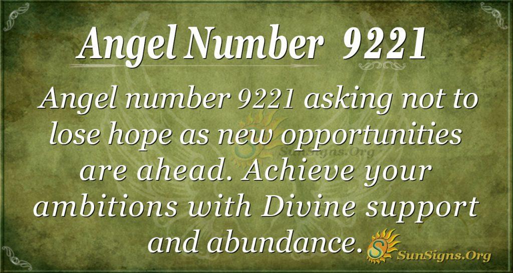 Angel Number 9221