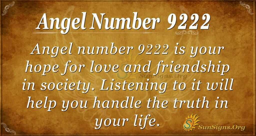 Angel Number 9222