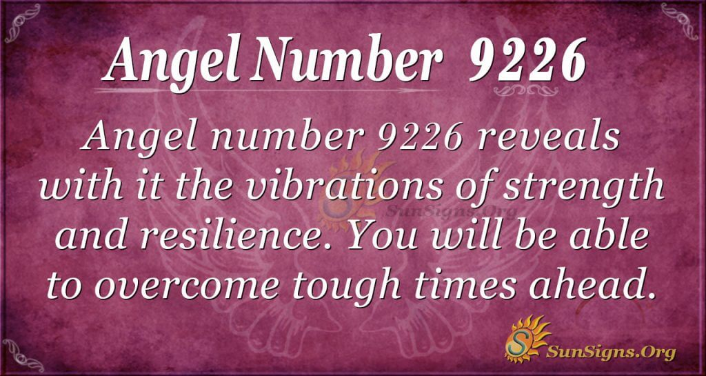 angel number 9226