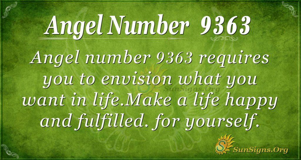 Angel Number 9363