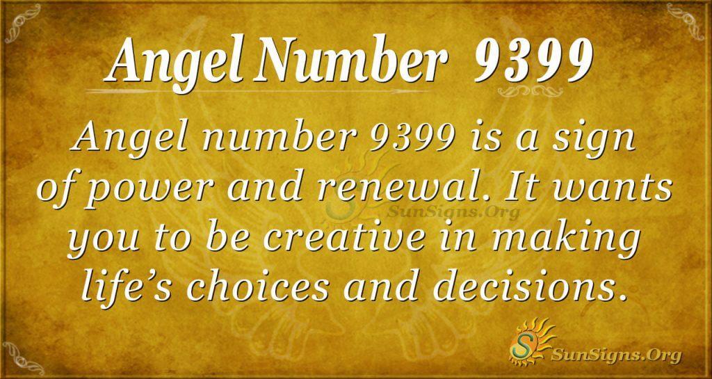 angel number 9399