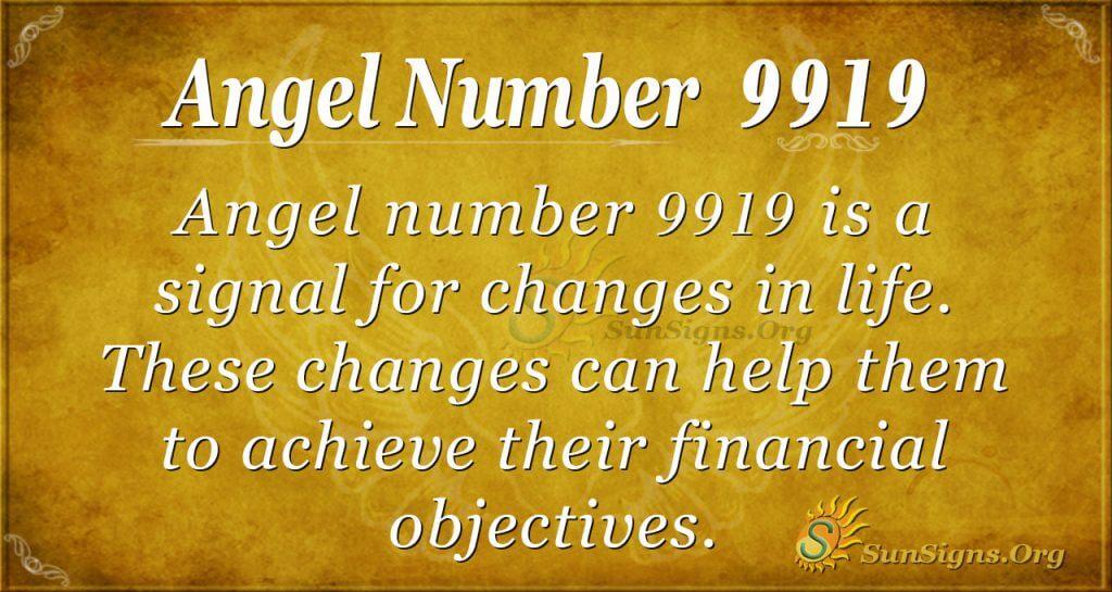 Angel Number 9919