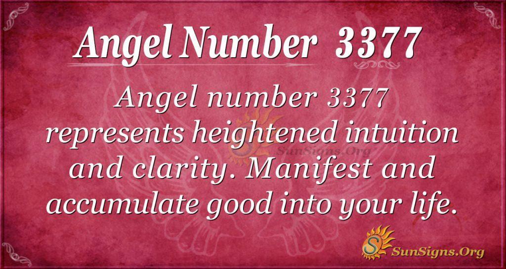 Angel Number 3377