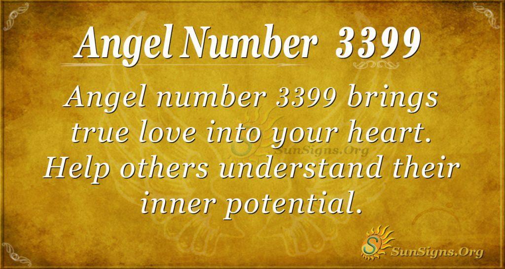 Angel number 3399