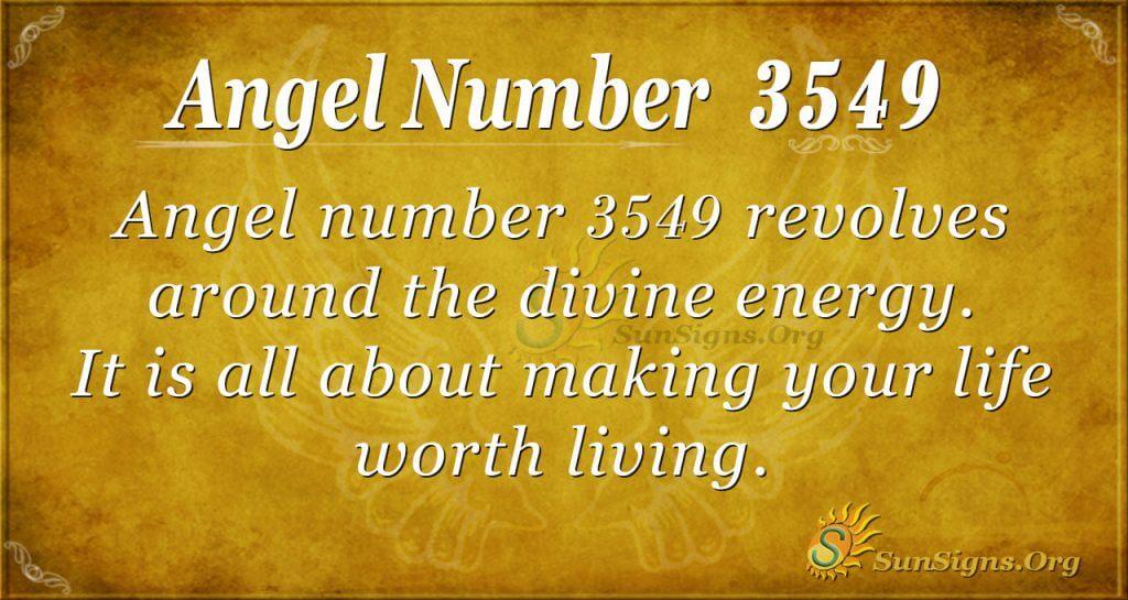 Angel number 3549