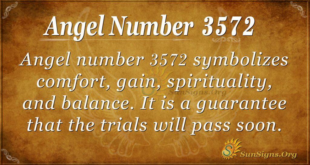 Angel number 3572