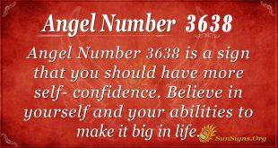 Angel number 3638