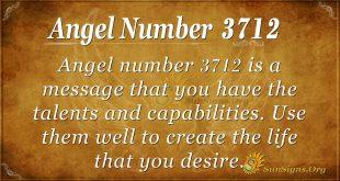 Angel number 3712
