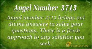 Angel number 3713
