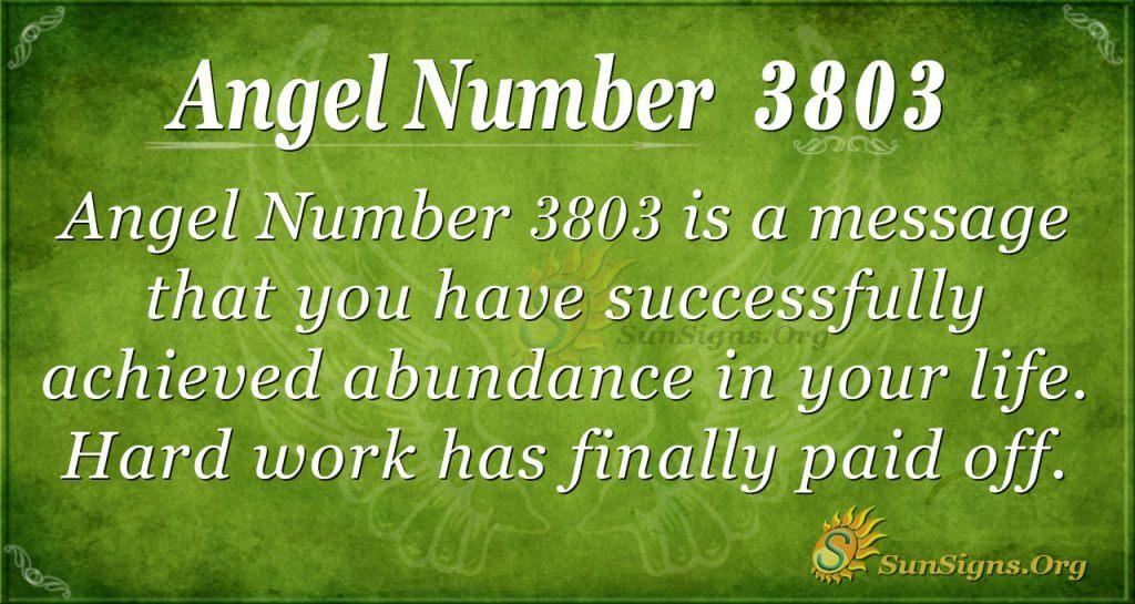 Angel number 3803