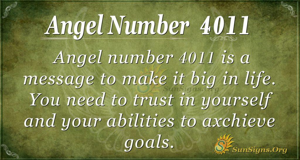 Angel number 4011