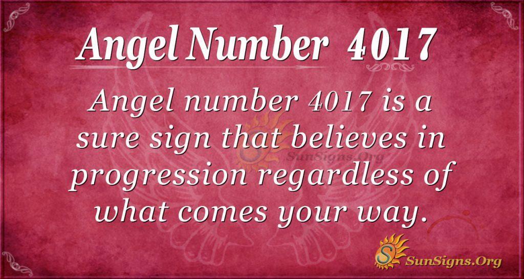 Angel number 4017