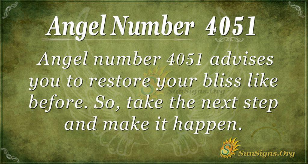 Angel number 4051