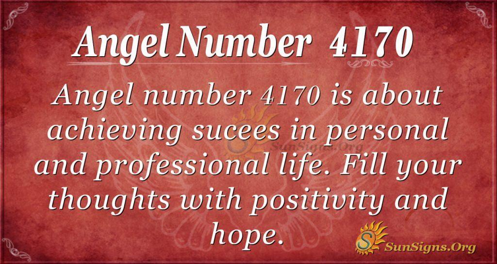 Angel number 4170