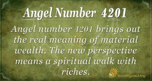 Angel number 4201