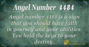 Angel number 4484