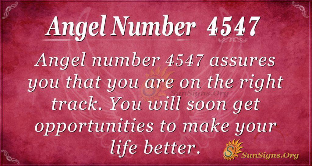 4547 angel number