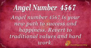 Angel number 4567