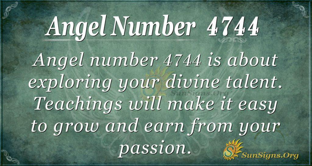 angel number 4744