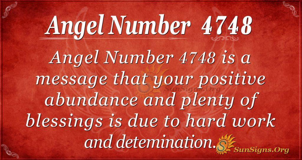 Angel number 4748