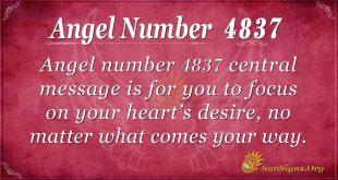 Angel number 4837